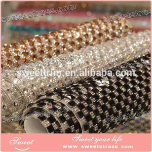 China fashion hotfix square crystal rhinestone net mesh for lady's Bling Shoes on sale