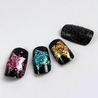 OEM Glitter Fingers Fake Nails , Salon French nail Artificial Nail Art