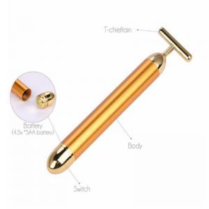 China Meraif wholesale 24K Gold Vibration Face Massager 24K Gold Salon Beauty Device Beauty Bar Massager on sale