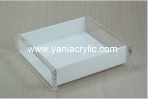China SGS Hotel Decorative Acrylic Bathroom Accessories / Square Acrylic Tray on sale