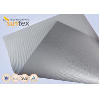 Silver Grey Fiberglass Fire Resistant Welding Blanket Silicon Rubber Colored Fiberglass Cloth