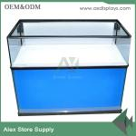 China VIVO display counter display showcase mobile display cabinet MDF wholesale