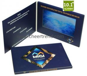 China Marketing 10 inch avi TFT LCD video greeting card,video book video brochure for advertising on sale