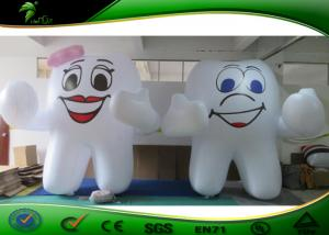 China 3M Height PVC 0.18MM Cartoon Inflatable Tooth Shaped Balloon For Advertising on sale