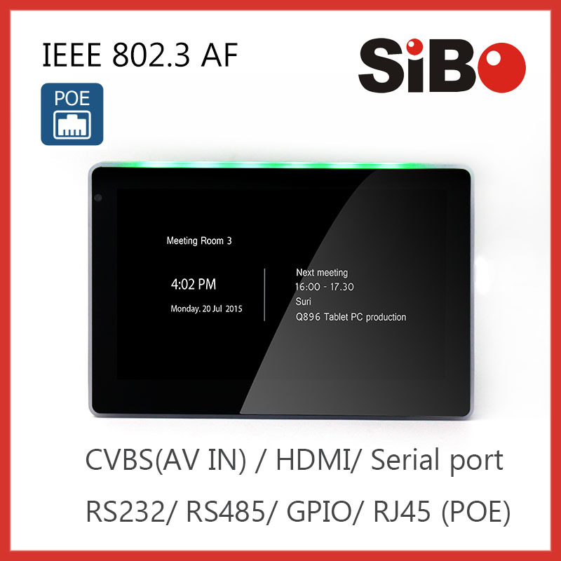 7 Inch POE IN-Wall Capacitive Touch Screen With Android System For Home Automation