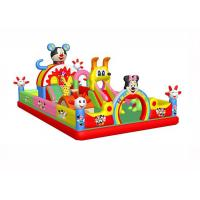 Anti - Static Kids Inflatable Jumping Castle , 0.55mm PVC Childrens Indoor Bouncy Castle
