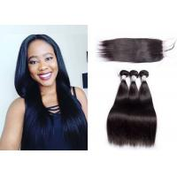 10A Virgin 12 Inch Straight Human Hair Weave For America Ladies Natural Color #1b