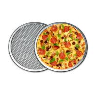 China Durable 16 Inch Pizza Mesh Screen Metal Tray Seamless Aluminum Rim FDA Certificated  on sale