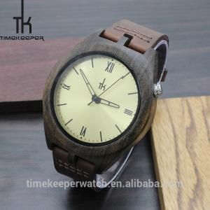 China cheap custom logo watches , chinese wholesale watches ,carbonized natural bamboo on sale