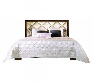 China Fabric Frame Latest Design King Side Furniture The Model Wooden Box Bed MKBN-KP2003M-903 on sale