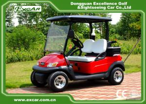 China Metallic Red Color Electric Golf Car on sale