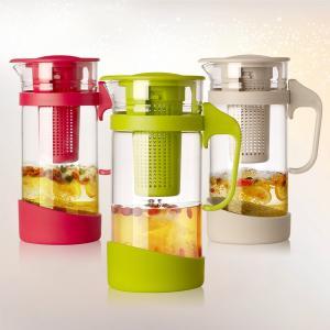 China 1.3L Borosilicate Glass infuser jugs, Fruit Infusion Flavor tea Pitcher on sale