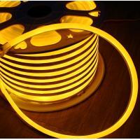 China 50m spool anti-UV full waterproof IP68 led flex neon strip 24vsmd flexible soft tube yellow emitting mini 7*15mm on sale