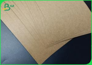 China A3 / A4 / A5 Size Good Stiffness Brown Kraft Paper In Sheets wholesale