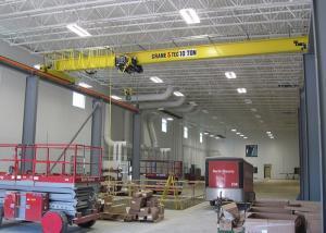 Electric Travelling Overhead Crane Wireless Remote Control 10 Ton