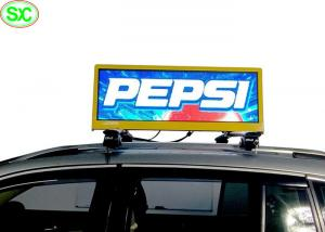 China P4 Waterproof IP65 Video Car LED Sign Display , taxi roof led display on sale