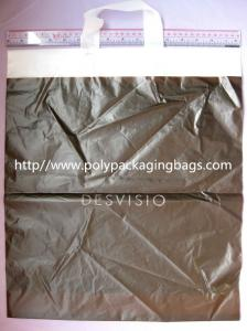 China HDPE White Biodegradable Plastic Shopping Bags with Flexi Loop Handle on sale