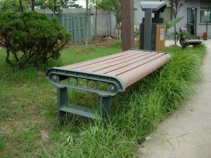 China Anti - Deformation Outdoor Wood Bench , High Impact Resistant Wooden Park Bench on sale
