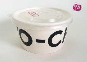 China 12oz Custom Logo Printed Paper Salad Bowls with Clear Lids / FDA Certificated on sale