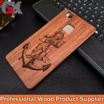 Caixa natural do telefone de Wood+PC para Huawei P9 Lite