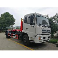 Dongfeng Hook Lift Garbage Truck , 12 Tons 12cbm Roll Off Container Garbage Truck