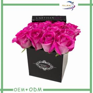 China Romantic Square Rose Flower Gift Boxes Cardboard Packaging Box on sale
