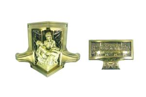 China Bronze color new design coffin corner 28# in electronic plating and antique brass color on sale