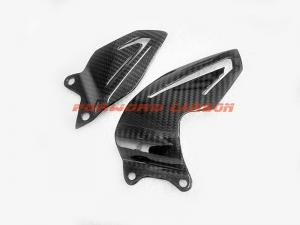 China Quality carbon fiber motorcycle parts carbon fibre heel plates for Triumph Daytona 675 2013 on sale