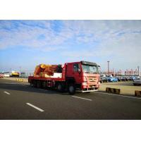 10 X 4 100 Tons Mobile Crane Truck , Folded Boom Type Heavy Duty Crane Truck