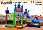 Giant Commercial Bouncy Castles / Sewed And Stitched Inflatable Bouncer For Kids