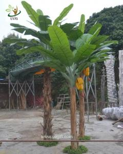 China UVG decorative fake plant artificial banana tree in plastic fruit for offiice decoration on sale