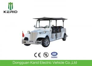 China Eight Seater Electric Vintage Cars For Sightseeing With FRP Body 48V Battery Powered on sale