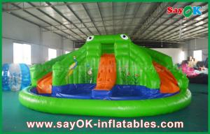 China Giant Inflatable Bouncer Slide for Poor , Adult Kids Frog Bouncy castle on sale