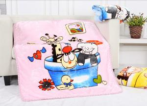 China Cartoon Character Blankets For Sofa Throws , Baby Flannel Receiving Blankets on sale