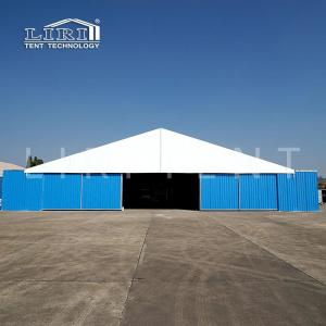 China A shaped Military warehouse tent with large entrance and hard walls for sale on sale