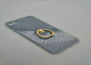 China Glitter Acrylic Cell Phone Protective Cases , Thermoplastic Polyurethane Case With Ring Stand on sale