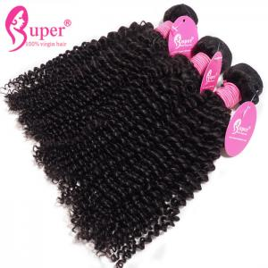 China Brazilian Remy Hair 100 Percent Raw Virgin Kinky Curly Weave Cabello Natural on sale
