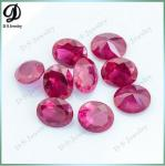 China synthetic 8x10mm 5# red color ruby corundum ruby price