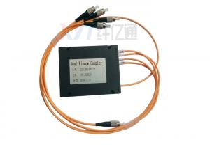 China 1x4 Fiber FBT Coupler 40NM Band Width ABS Box Multi Mode With FC / UPC Connector on sale