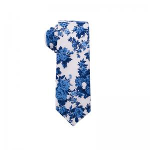 China 100% cotton printed necktie, 6cm-6.5cm bottom width, popular designs & colours on sale
