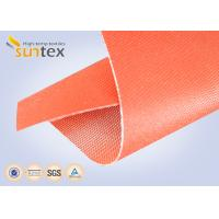 32oz Red Silicone Rubber Coated Fiberglass ClothFor Welding Blanket Fireproofing Textiles