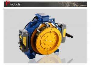 China Lift Motor / Gearless Elevator Traction Machine With Load 408 - 1000 KG on sale