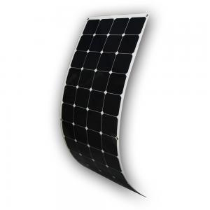 China Lightweight RV Flexible Solar Panels , 18V 12V Monocrystalline Solar Panel on sale
