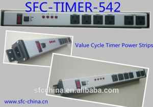 China Value Cycle Timer Electrical Outlet , Metal Power Strip With Timer / On Off Switch on sale