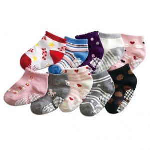 China Soft comfortable cotton custom color, design patterned Infant's socks on sale
