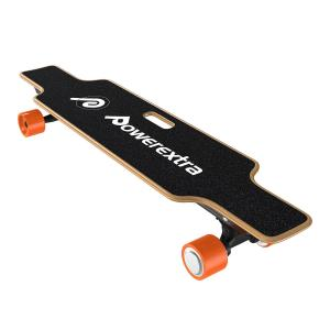 China Powerextra Fast Speed Electric Longboard 120W Dual Motor Electric Skateboard with Remote Control on sale