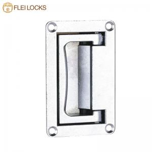 China Metal Recessed Cabinet Handles , Concealed Pull Handle Plastic Spraying Surface on sale