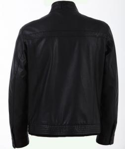 China European Excelled, Stylish and Casual Black Mens Tall Designer PU Leather Jackets on sale