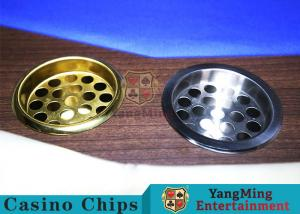 China Copper Color Poker Table Accessories , Windproof Stainless Steel Ashtray on sale