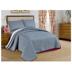 Quality Custom Grey Printed Bed Spread Sets , Home Adult Luxury Bedspreads for sale